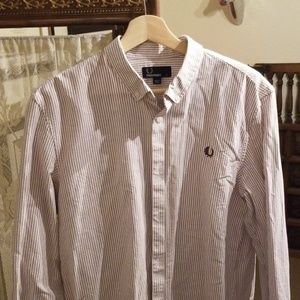 Fred Perry striped oxford